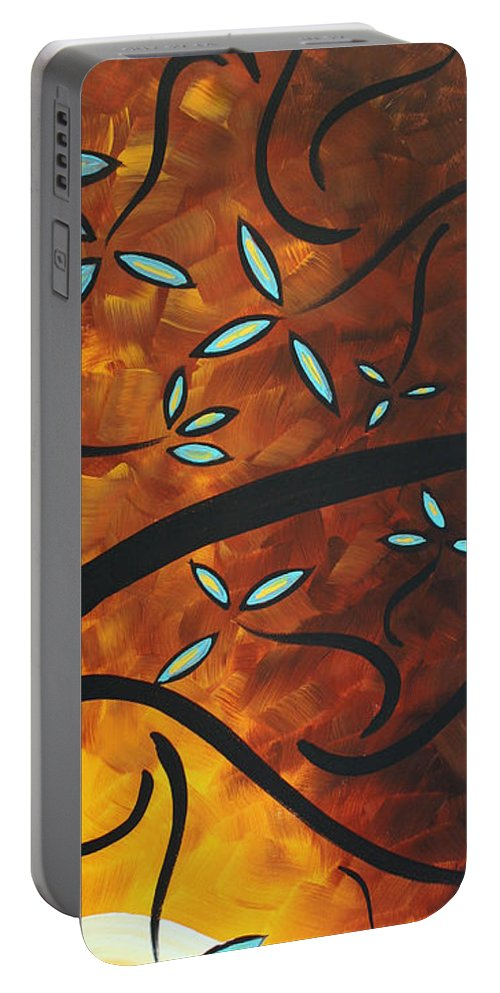 Wall Portable Battery Charger featuring the painting Simply Glorious 3 By Madart by Megan Duncanson