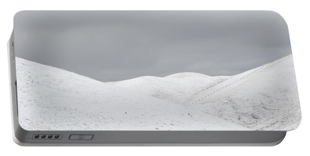 Snow Portable Battery Charger featuring the photograph Simply Snow by Karen W Meyer