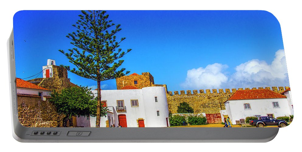 Sines Portable Battery Charger featuring the photograph Sines Castle by Roberta Bragan