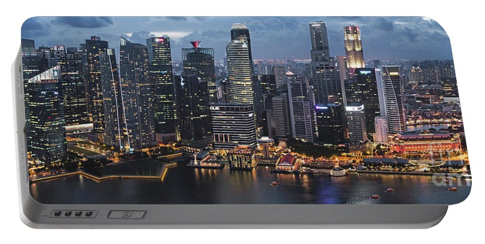 Exterior Portable Battery Charger featuring the photograph Singapore by Jim Chamberlain