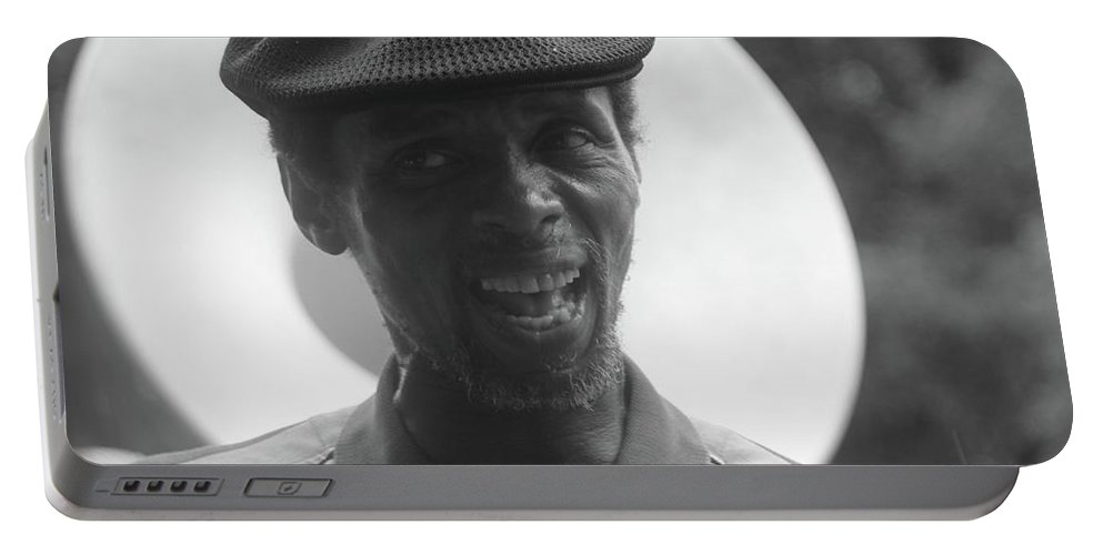 Artist Portable Battery Charger featuring the photograph Singing In The Street by Michelle Powell