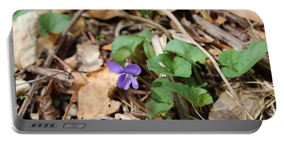Flower Portable Battery Charger featuring the photograph Single by Spig Rickinshaw