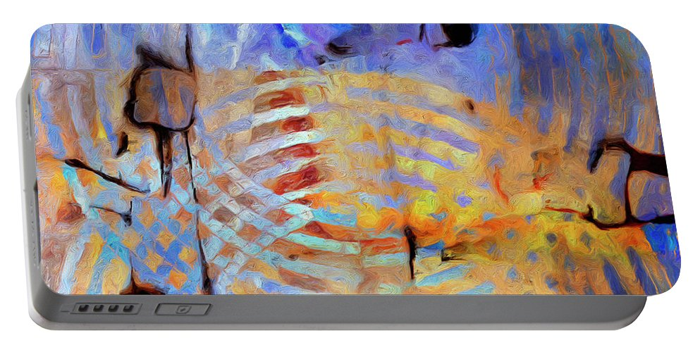 Abstract Portable Battery Charger featuring the painting Singularity by Dominic Piperata