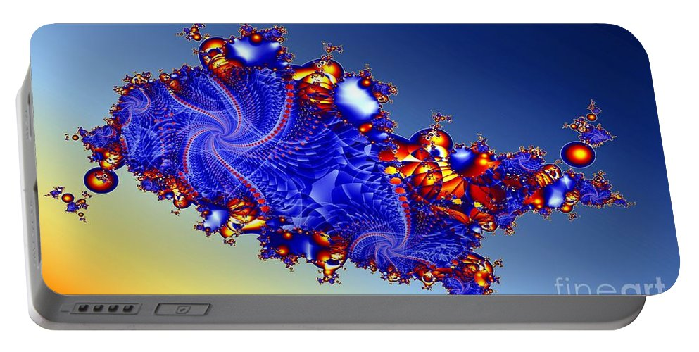 Fractal Portable Battery Charger featuring the digital art Singularity by Ron Bissett