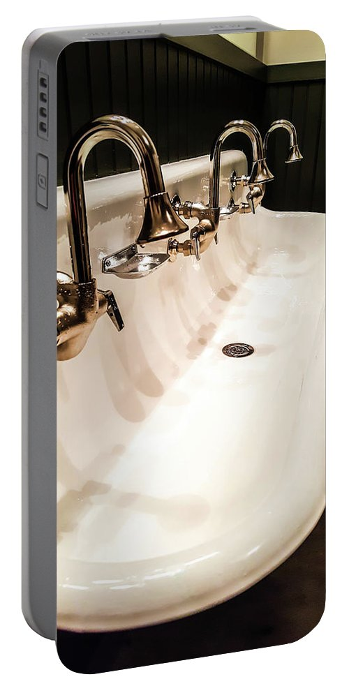 Portable Battery Charger featuring the photograph Sink by Sue Conwell