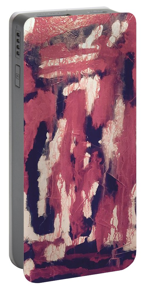 Art Portable Battery Charger featuring the painting Sins Of The Father by Edward Paul