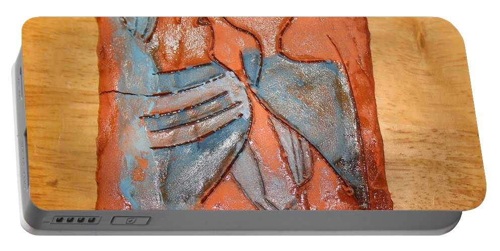 Jesus Portable Battery Charger featuring the ceramic art Sir - Tile by Gloria Ssali
