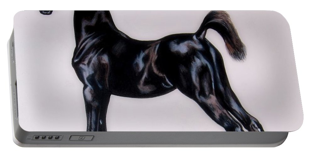 Horse Art Portable Battery Charger featuring the painting Sir Clarence Ronald - Saddlebred Colt by Cheryl Poland