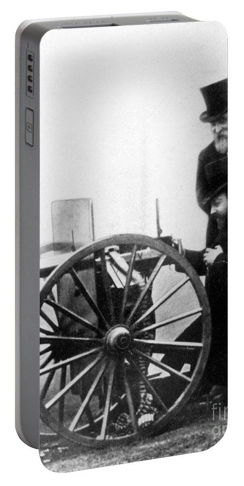 1900 Portable Battery Charger featuring the photograph Sir Hiram Stevens Maxim by Granger
