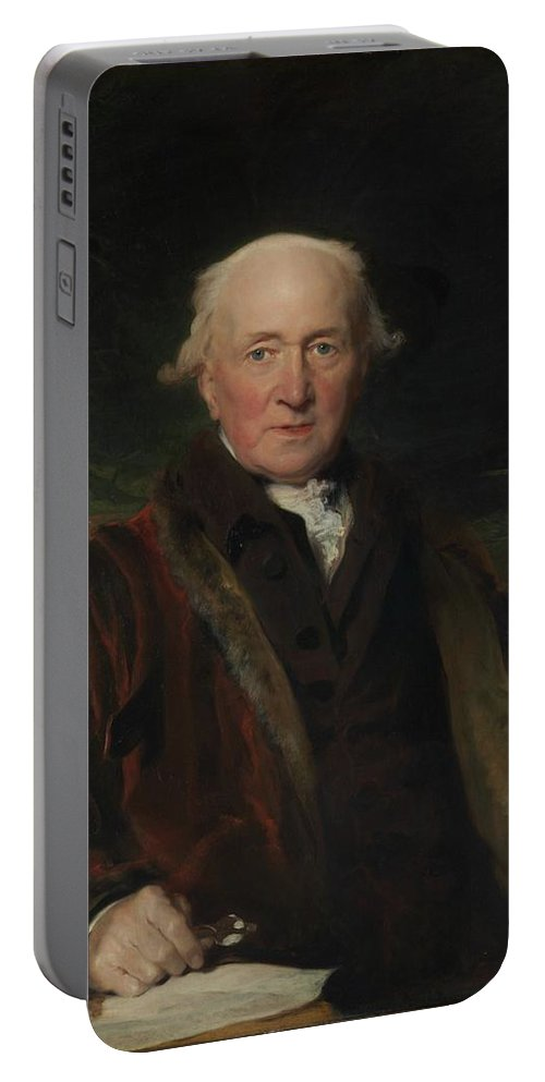 John Julius Angerstein (1736�1823) Portable Battery Charger featuring the painting Sir Thomas Lawrence by MotionAge Designs