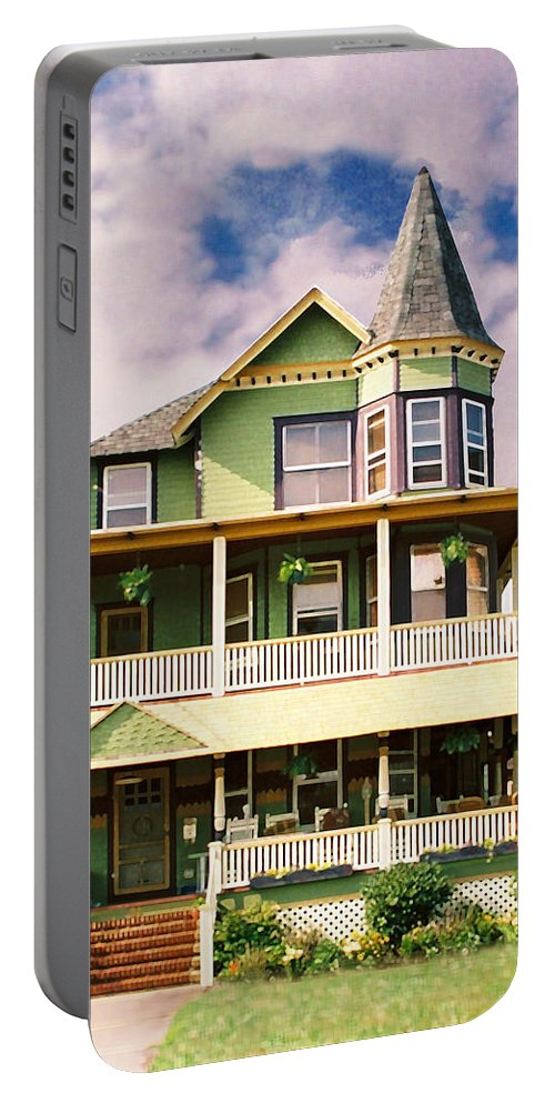 Archtiecture Portable Battery Charger featuring the photograph Sisters Panel 1 Of Triptych by Steve Karol