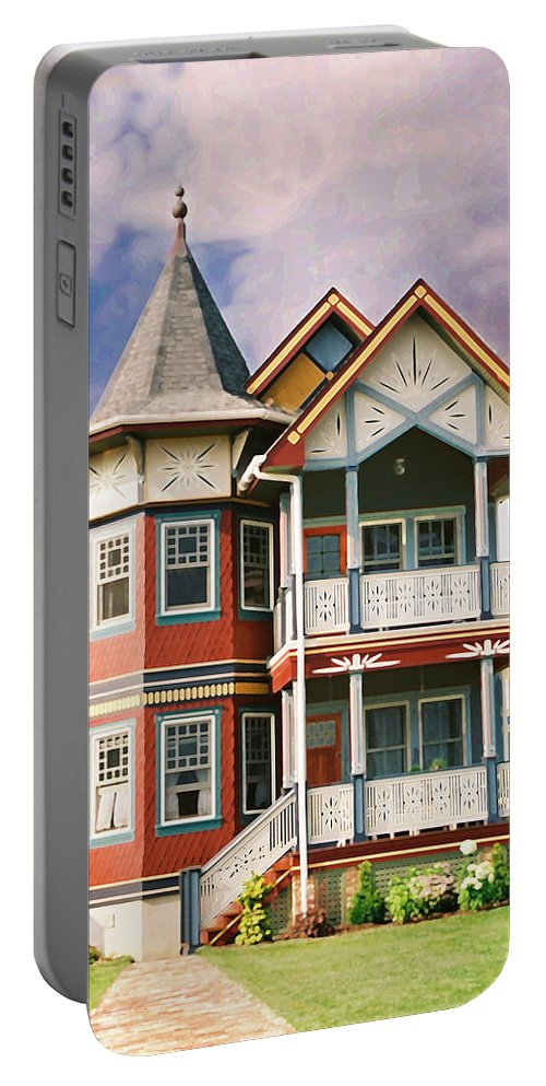 Landscape Portable Battery Charger featuring the photograph Sisters Panel Two Of Triptych by Steve Karol