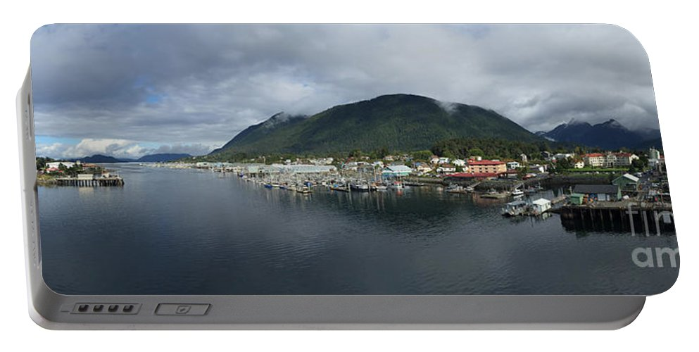 Sitka Portable Battery Charger featuring the photograph Sitka Alaska From The John O'connell Bridge Is A Cable-stayed Bridge 2015 by California Views Archives Mr Pat Hathaway Archives