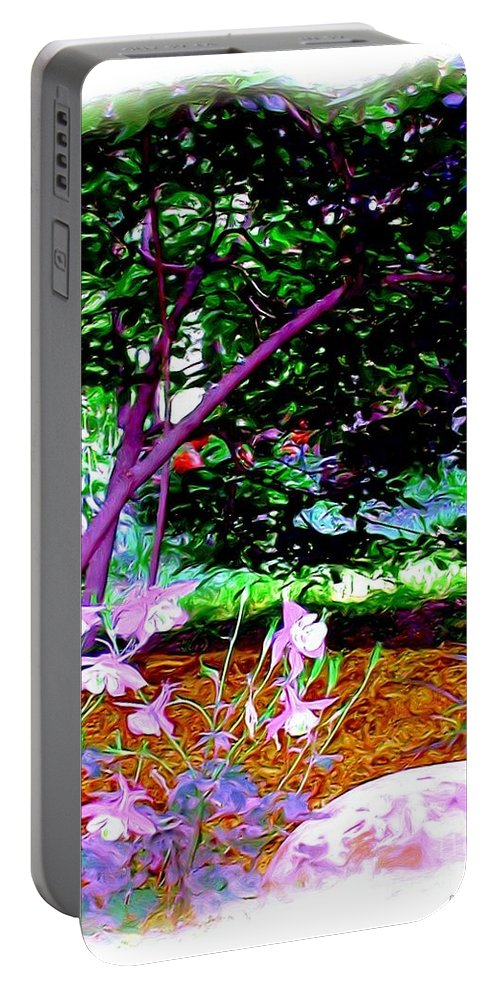 Fine Art Portable Battery Charger featuring the painting Sitting In The Shade by Patricia Griffin Brett