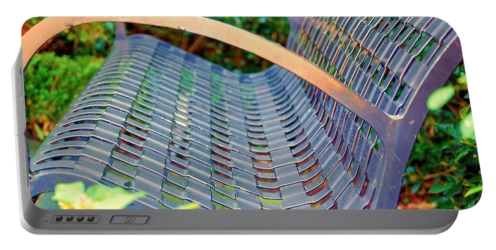 Bench Portable Battery Charger featuring the photograph Sitting on a Park Bench by Debbi Granruth