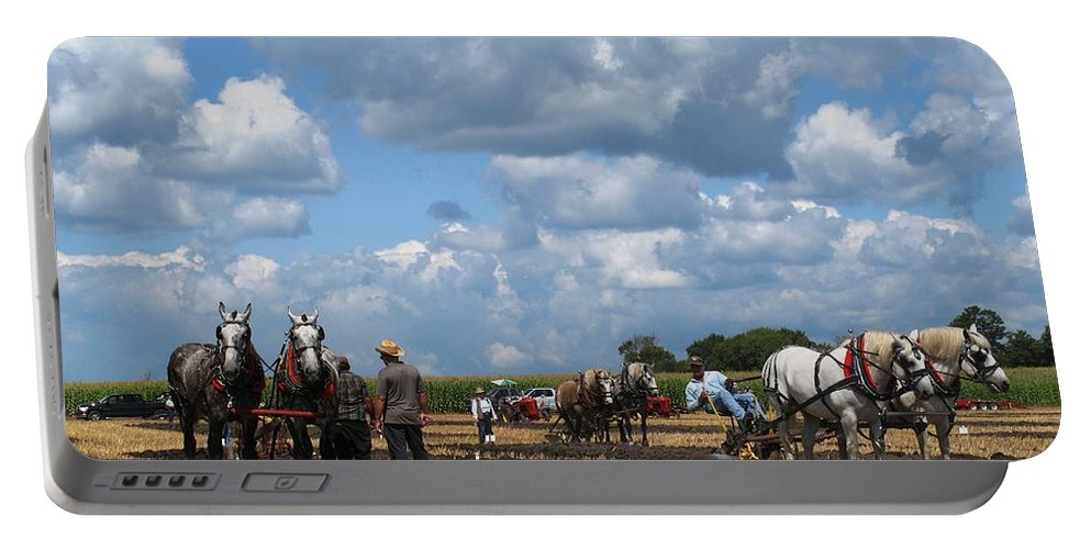 Horse Portable Battery Charger featuring the photograph Six Horses by Ian MacDonald