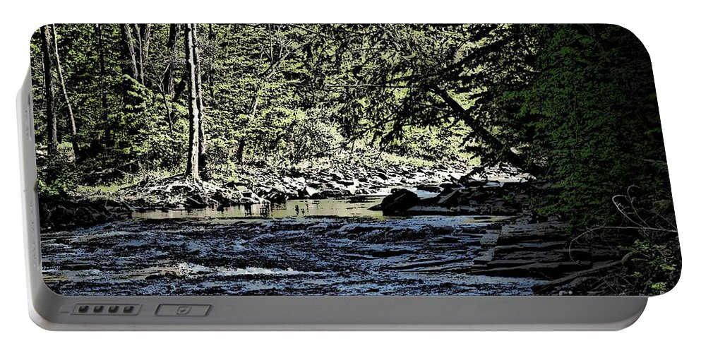 Landscape Portable Battery Charger featuring the photograph Six Mile Creek Ithaca Ny by David Lane