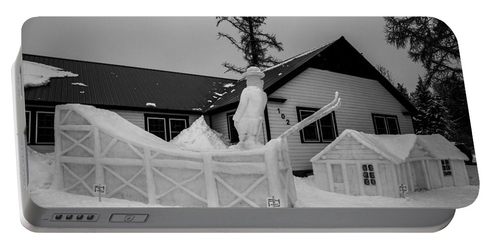 Mccall Portable Battery Charger featuring the photograph Ski Jump by Angus Hooper Iii