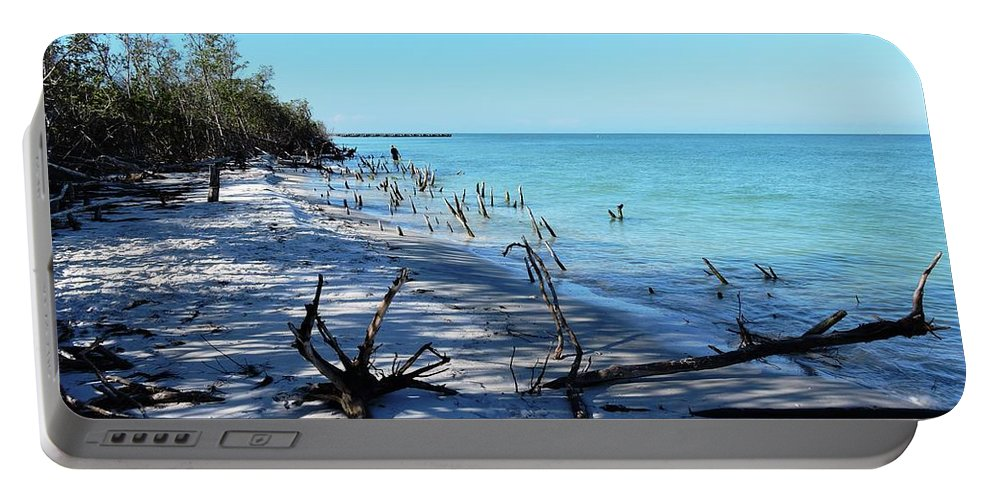Sunrise Portable Battery Charger featuring the photograph Skirting Around by Beth Williams