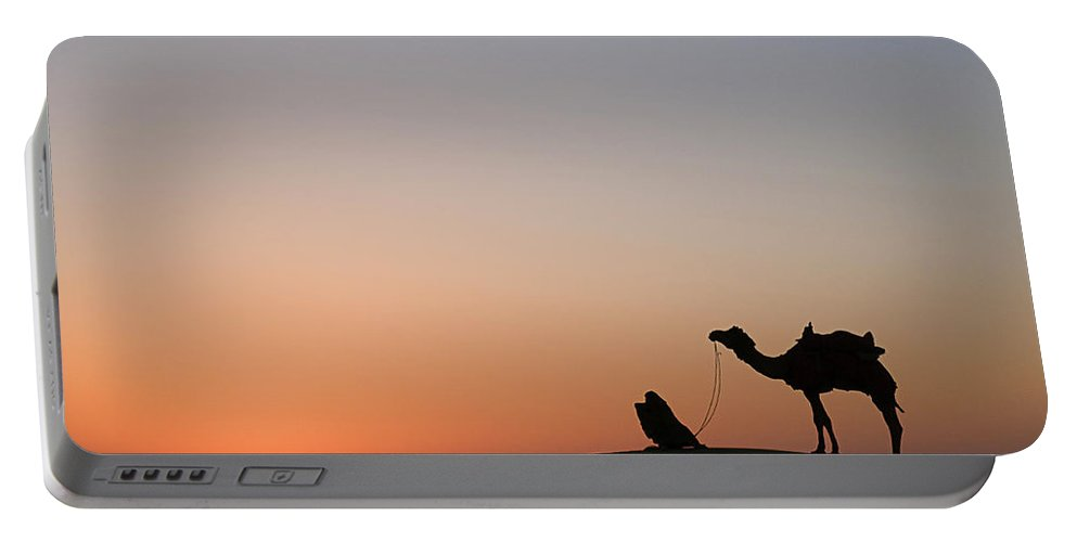 Desert Portable Battery Charger featuring the photograph Skn 0868 Sunrise View by Sunil Kapadia