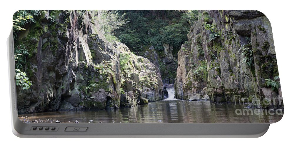 Waterfall Portable Battery Charger featuring the photograph Skryje Waterfall And Pond by Michal Boubin