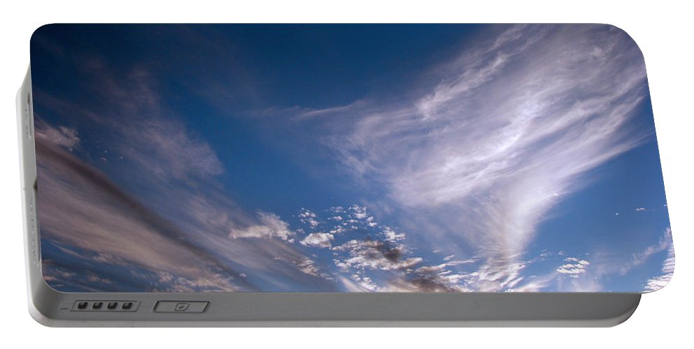 Skies Portable Battery Charger featuring the photograph Sky by Amanda Barcon