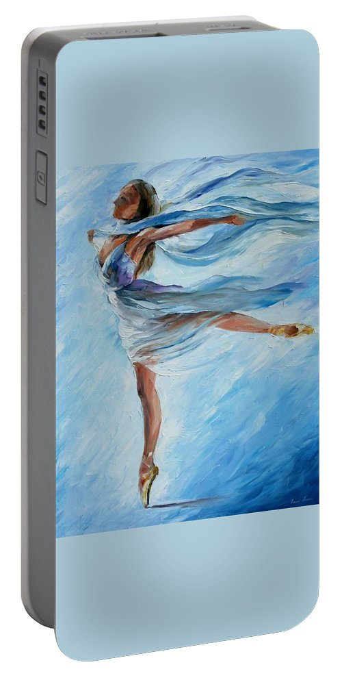 Ballet Portable Battery Charger featuring the painting Sky Dance by Leonid Afremov
