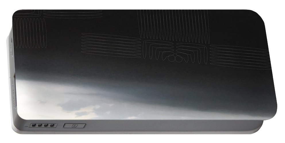 Sky Portable Battery Charger featuring the digital art Sky Foundation by Kevin McLaughlin