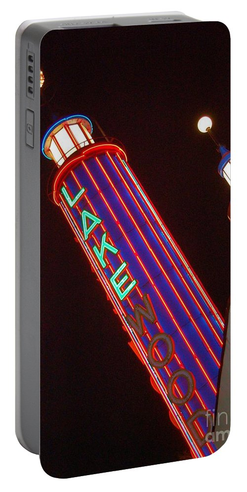 Neon Portable Battery Charger featuring the photograph Sky Lights by Debbi Granruth