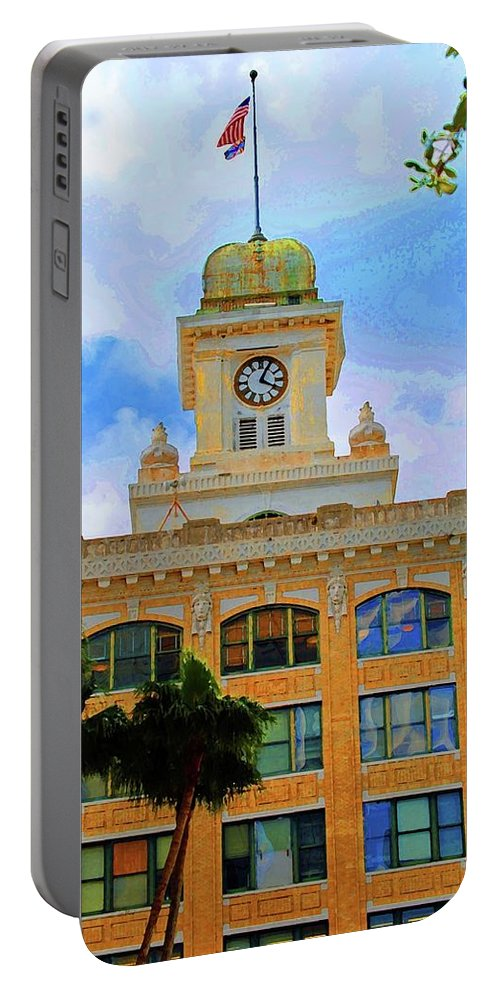 City Hall Portable Battery Charger featuring the photograph Sky Of The Hall by Jost Houk