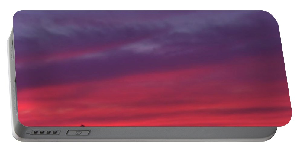 Sunrise Portable Battery Charger featuring the photograph Sky Painting by D Hackett
