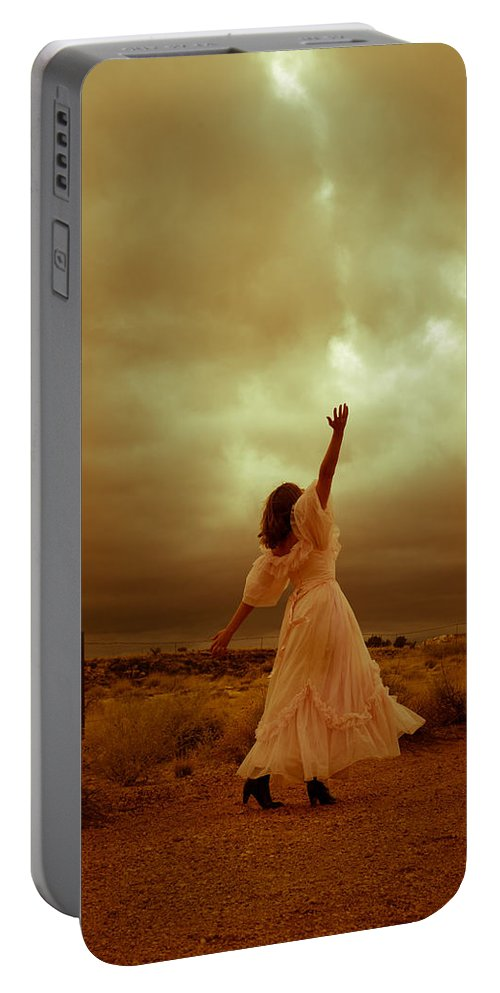 Storm Portable Battery Charger featuring the photograph Sky Splitter by Scott Sawyer