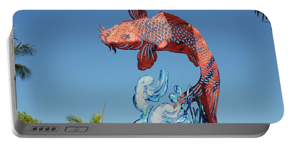 Abstract Portable Battery Charger featuring the photograph Skyfish by Rob Hans