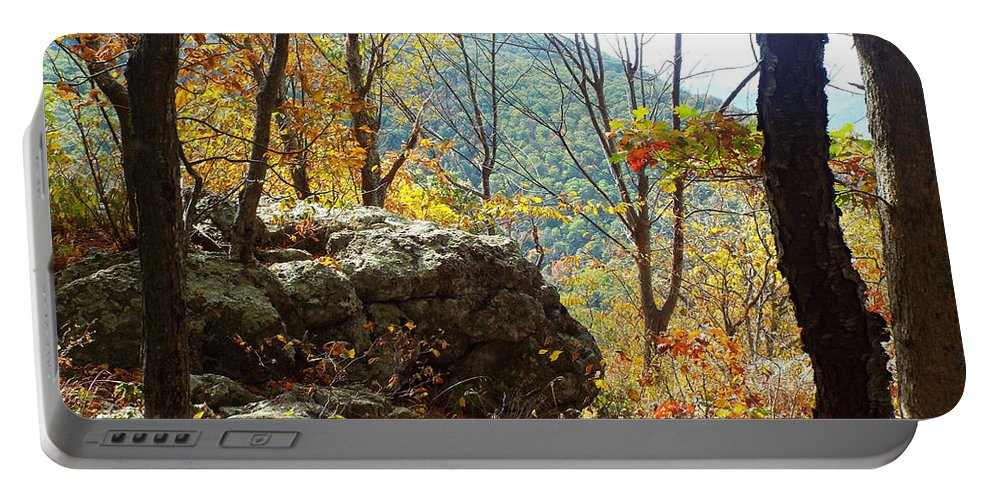 Fall Portable Battery Charger featuring the photograph Skyline Drive - 3 by Gilbert Pennison