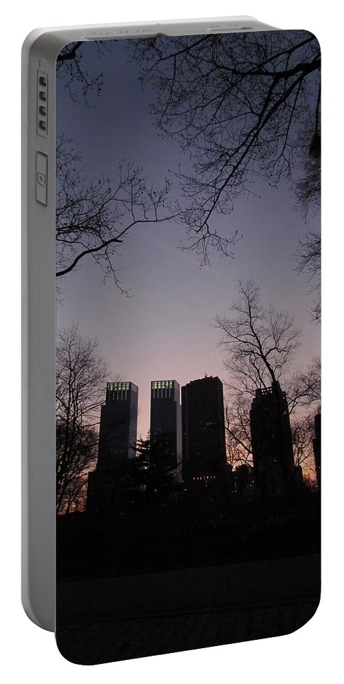 America Portable Battery Charger featuring the photograph Skyscrapers by Robyn R Hazen