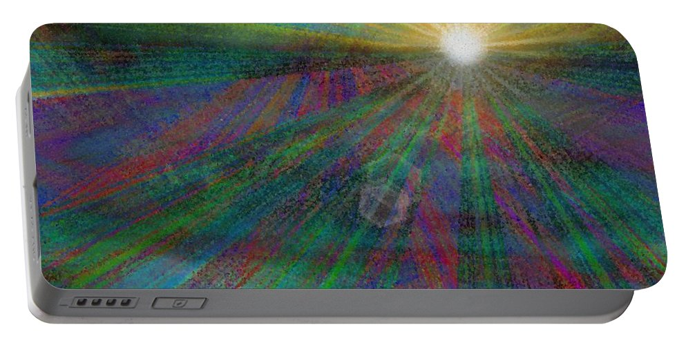 Abstract Portable Battery Charger featuring the digital art Skyward 2 by Tim Allen
