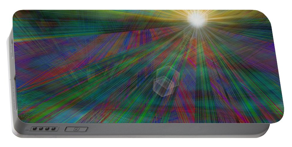 Abstract Portable Battery Charger featuring the digital art Skyward by Tim Allen
