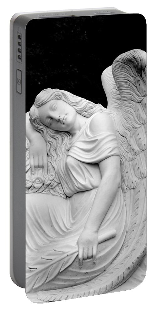 Angel Portable Battery Charger featuring the photograph Sleeping Angel by Jean Haynes