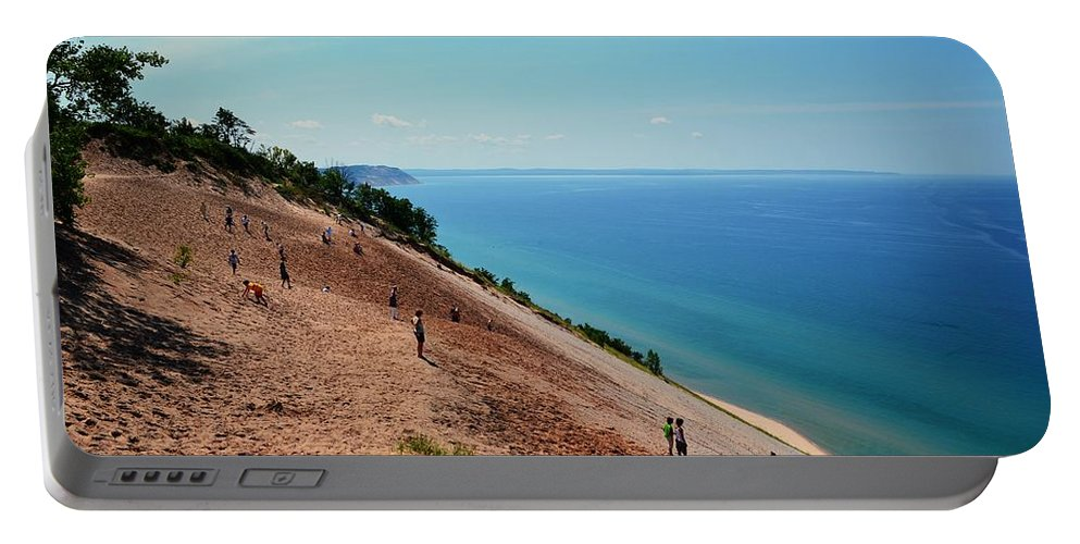 Dune Climb Portable Battery Charger featuring the photograph Sleeping Bear Dune Climb by Michelle Calkins