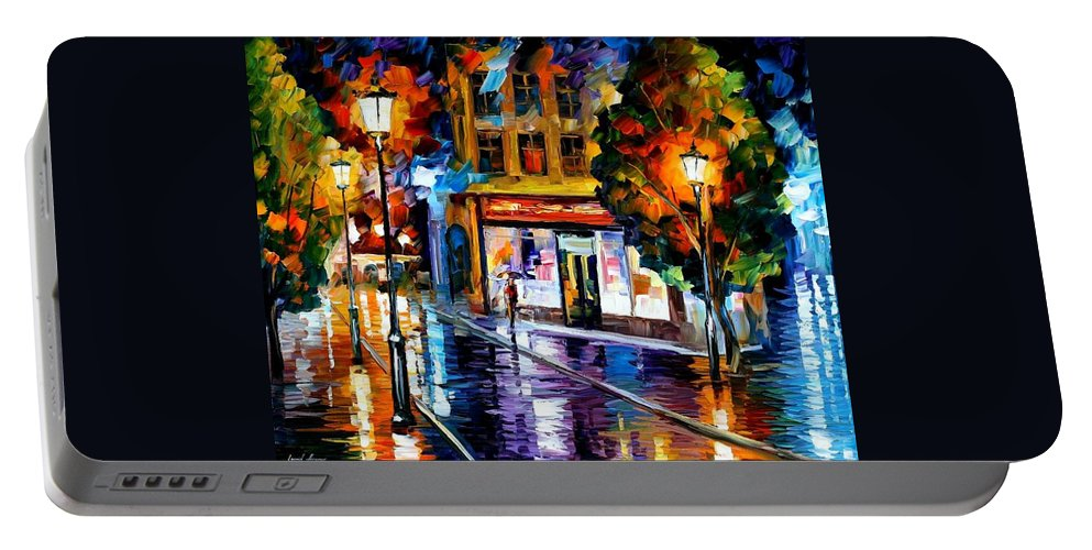 Afremov Portable Battery Charger featuring the painting Sleeping Giblartar by Leonid Afremov