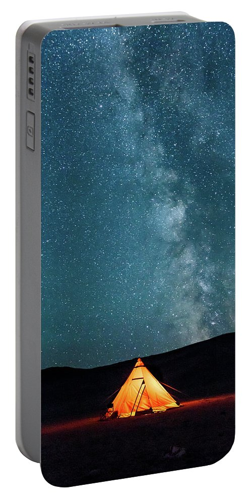 Altai Portable Battery Charger featuring the photograph Sleeping Under The Stars by Emily M Wilson