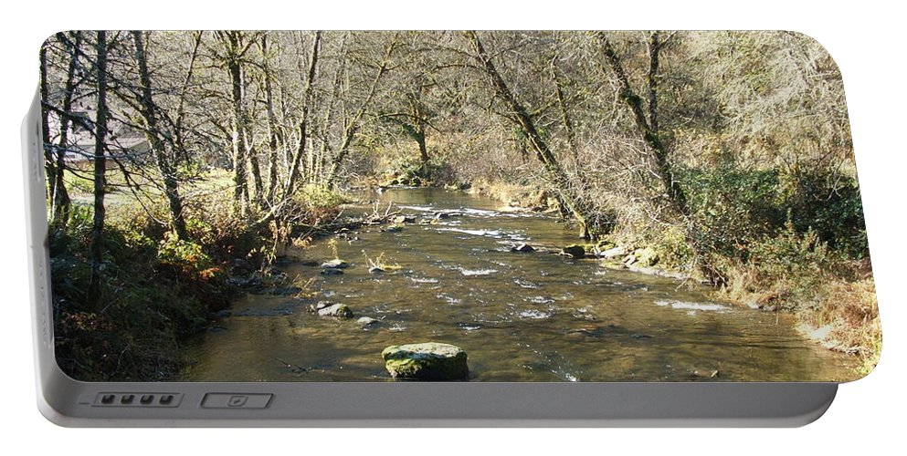 River Portable Battery Charger featuring the photograph Sleepy Creek by Shari Chavira