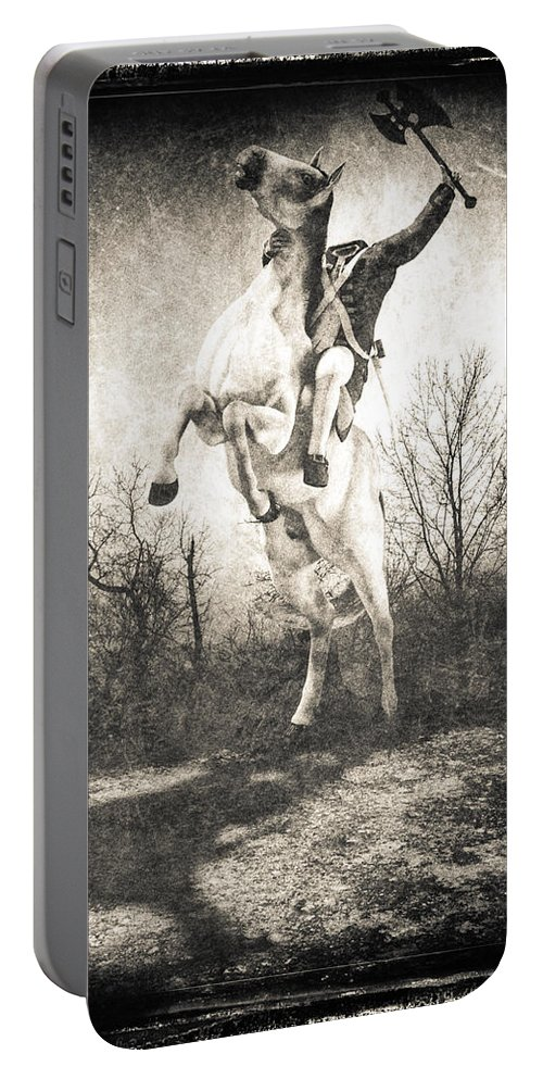 Headless Horseman Portable Battery Charger featuring the photograph Sleepy Hollow Headless Horseman by Bob Orsillo