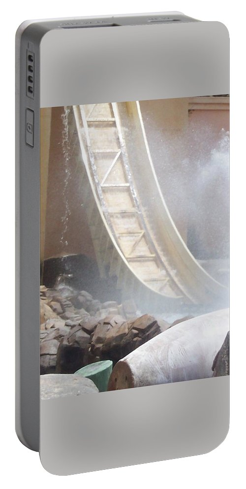 Slide Portable Battery Charger featuring the photograph Slide Splash by Pharris Art