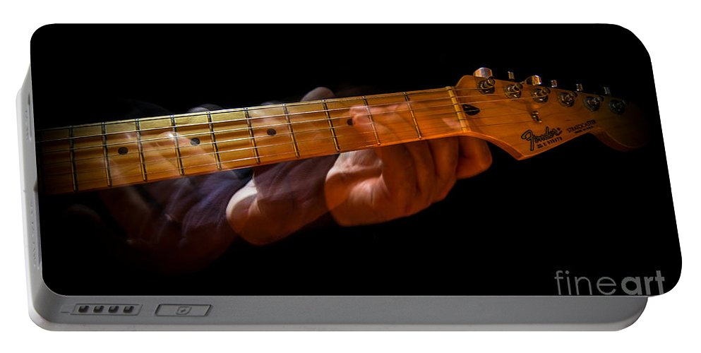 Guitar Portable Battery Charger featuring the photograph Slo - Hand by Robert Frederick