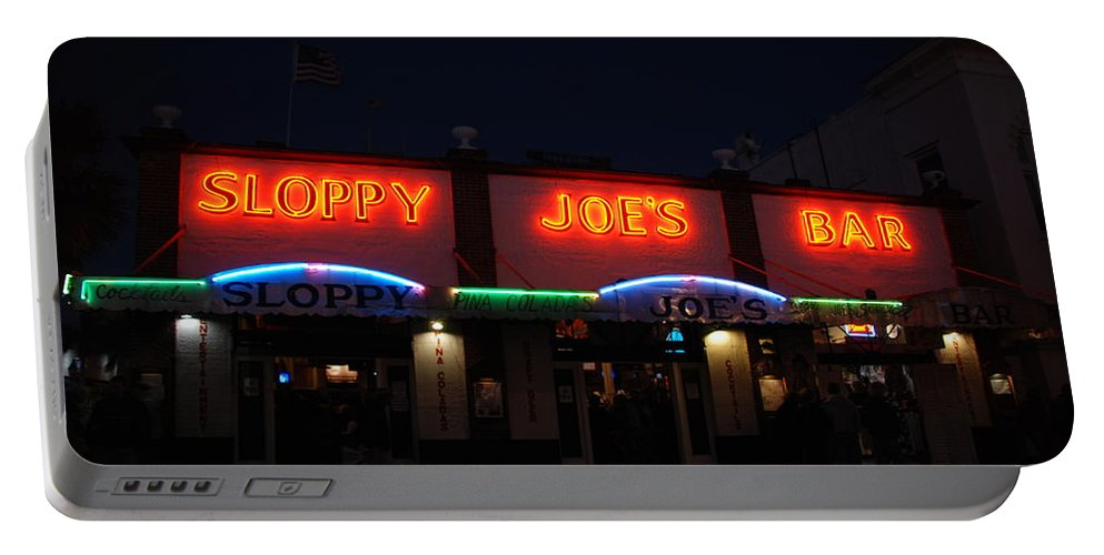 Photography Portable Battery Charger featuring the photograph Sloppy Joes By Night by Susanne Van Hulst