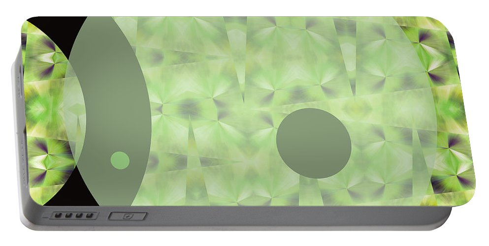 Abstract Portable Battery Charger featuring the digital art Slow Fade by Ruth Palmer