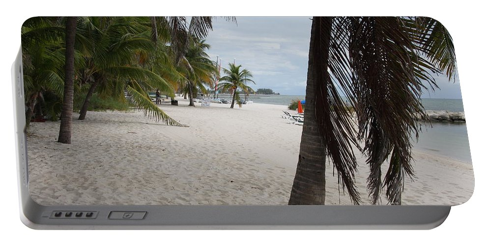 Beach Portable Battery Charger featuring the photograph Smathers Beach - Key West by Christiane Schulze Art And Photography