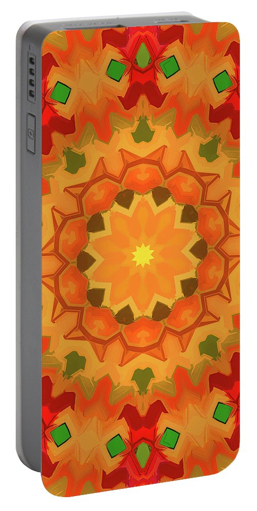Mandala Art Portable Battery Charger featuring the painting Smile by Jeelan Clark