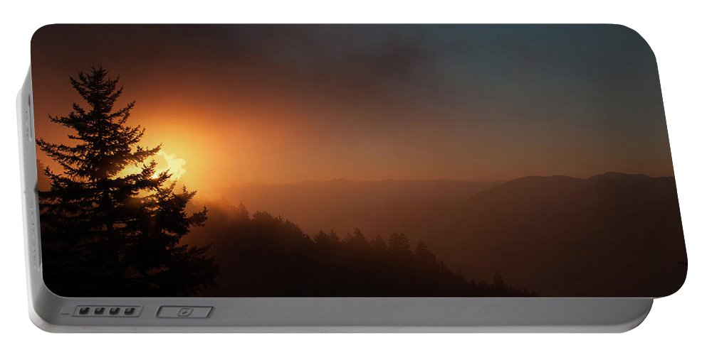 Smoke Portable Battery Charger featuring the photograph Smoke And Fire by Michelle Rollins